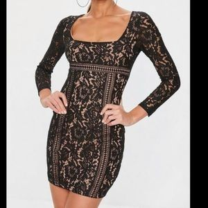 2 for 25$ 🤑 Bodycon long sleeve lace square neck
